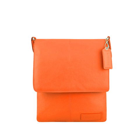 Orange Leather Crossbody - A192