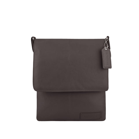 Brown Leather Crossbody - A192