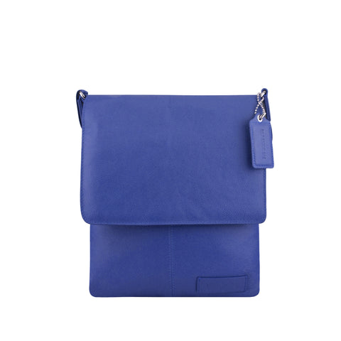Navy Leather Crossbody - A192