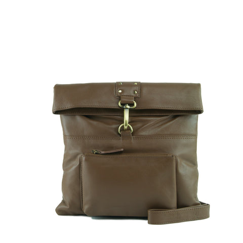 Cocoa Leather Crossbody - A202