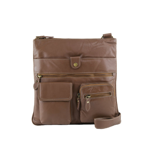 Cocoa Leather Crossbody - A206