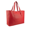 Red Oversized Leather Tote - A219