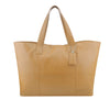 Camel Oversized Leather Tote - A219