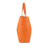 Orange Oversized Leather Tote - A219
