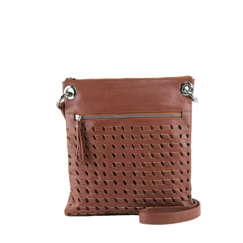Tan Leather Crossbody - N576