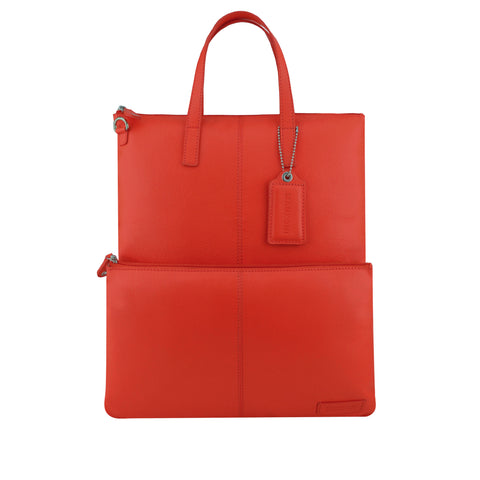 Red Leather 3 Way Crossbody - F186