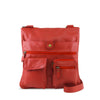 Red Leather Crossbody - A206