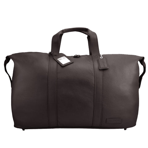 Brown Leather Weekend Travel Bag - L14