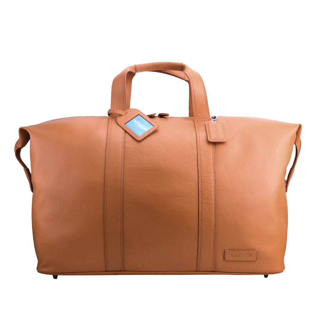 Tan Leather Weekend Travel Bag - L14