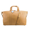 Camel Leather Weekend Travel Bag - L14