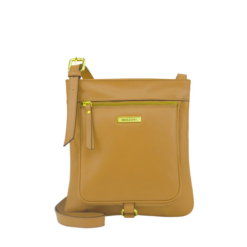 Camel Leather Crossbody - MA026