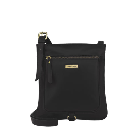 Black Leather Crossbody - MA026