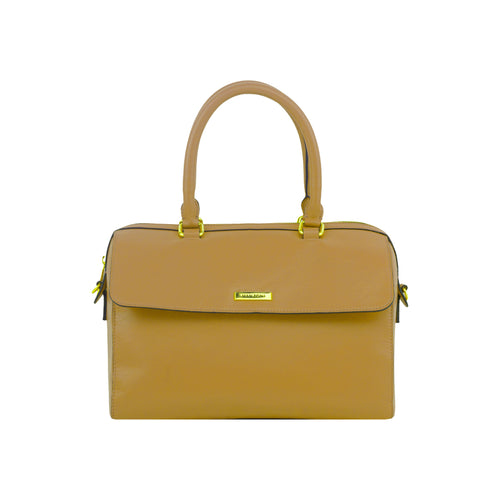 Camel Leather Handbag - MA027