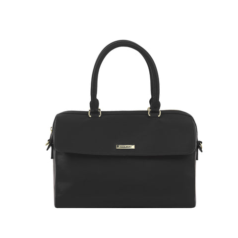 Black Leather Handbag - MA027