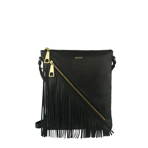 Black Fringe Crossbody - MA055