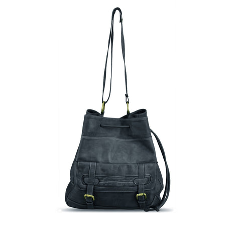 Dark Navy Washed Shoulder Bag - RAW004