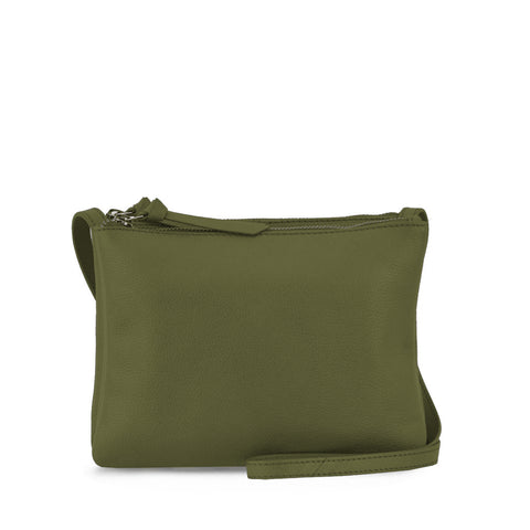 Olive Double Zippered Crossbody - MA281