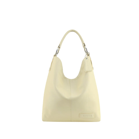 Ivory Leather Shoulder Bag - N11