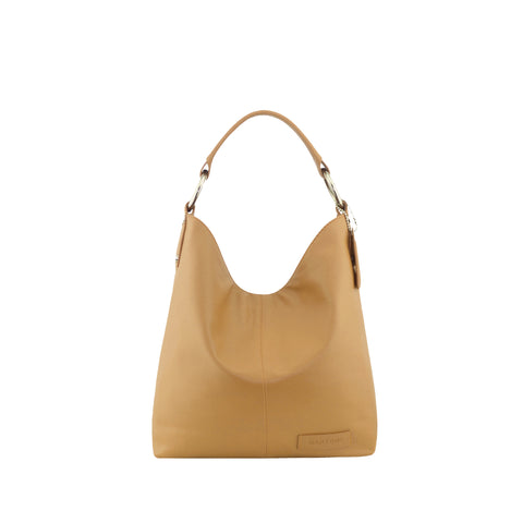 Camel Leather Shoulder Bag - N11