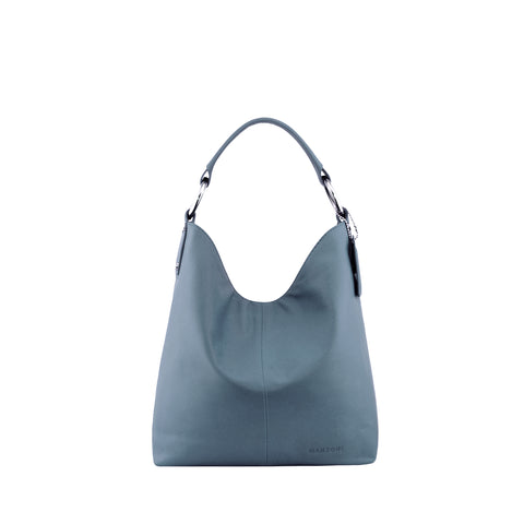 Indigo Blue Leather Shoulder Bag - N11