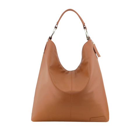 Tan Leather Shoulder Bag - N16