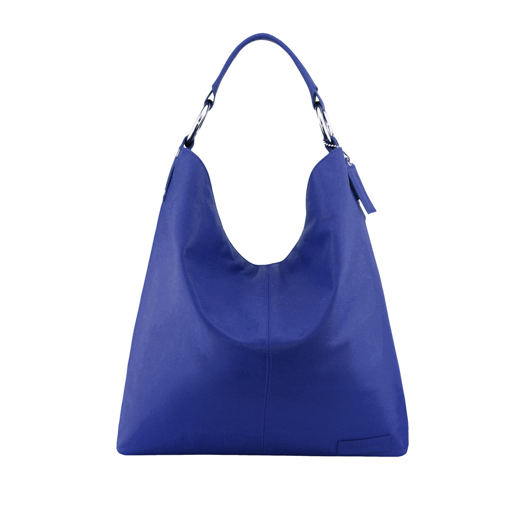 76c3a44274 Manzoni Accessories - Navy Leather Shoulder Bag - N16