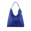Navy Leather Shoulder Bag - N16