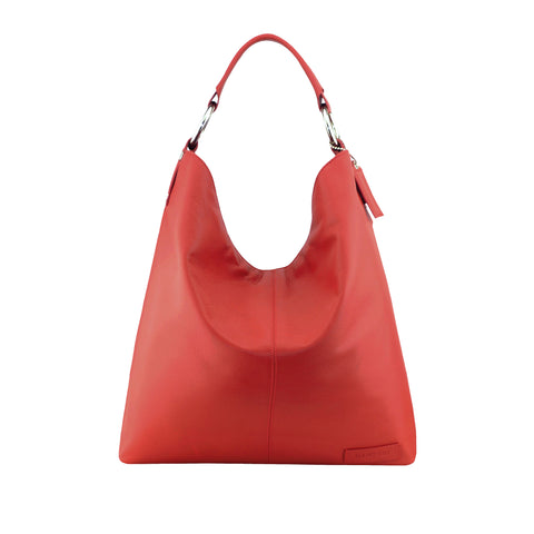 Red Leather Shoulder Bag - N16