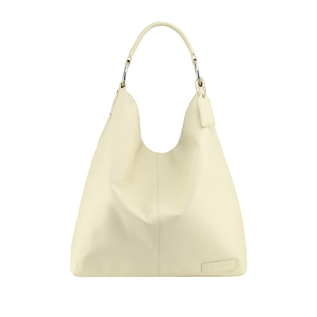 Ivory Leather Shoulder Bag - N16