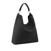 Black Leather Shoulder Bag - N16