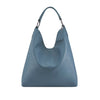 Indigo Blue Leather Shoulder Bag - N16
