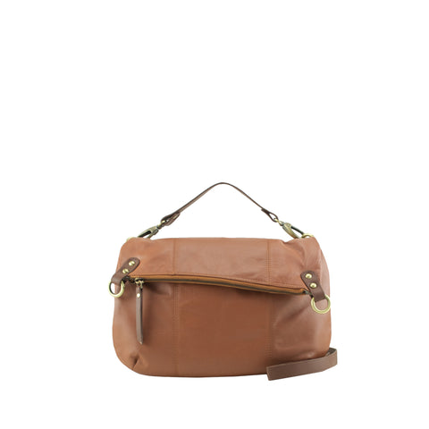 Tan Leather Shoulder Bag / Crossbody - N561