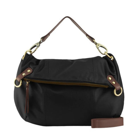 Black Cocoa Manzoni Large 3 Way Crossbody Handbag - N562