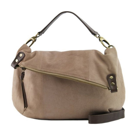 Biscuit Cocoa Manzoni Large 3 Way Crossbody Handbag - N562