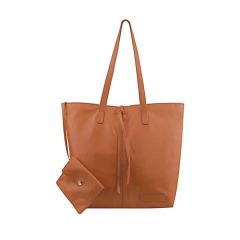 Tan Leather Tote - N578