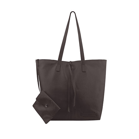 Brown Leather Tote - N578