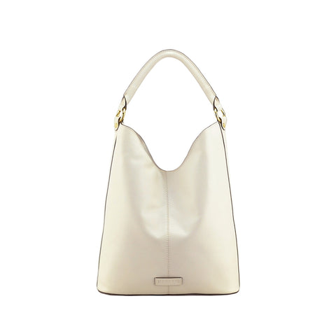 Off White Nappa Leather Shoulder Bag - N694