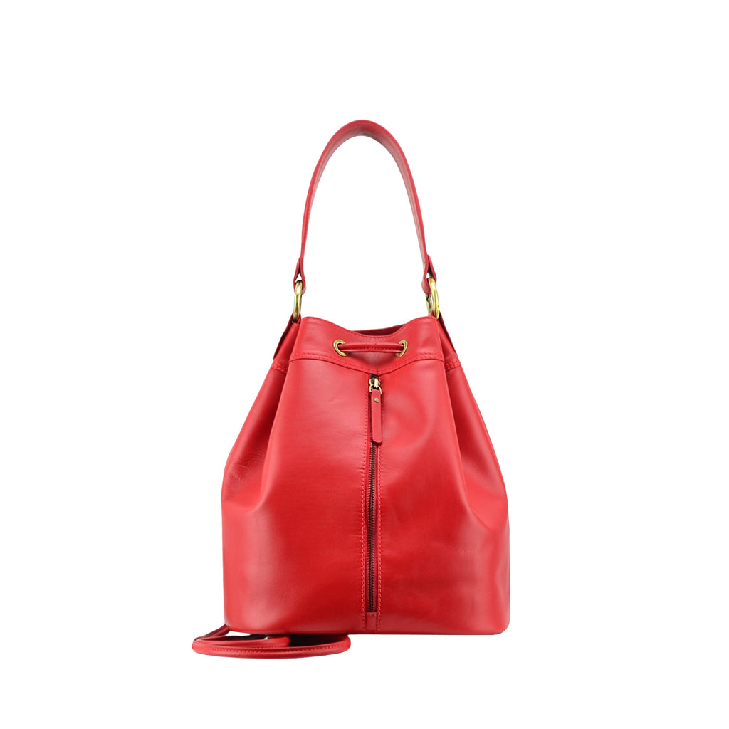 Red Nappa Leather Backpack - N697