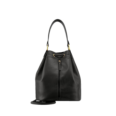 Black Nappa Leather Backpack - N697