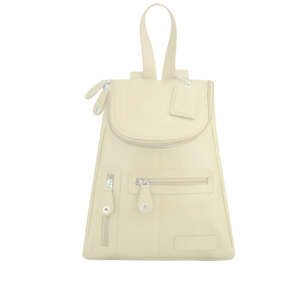 Ivory Leather Backpack - R107