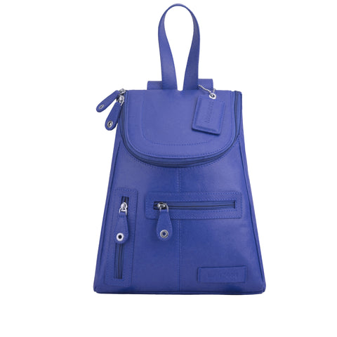 Navy Leather Backpack - R107