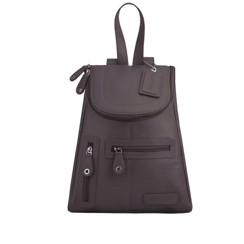 Brown Leather Backpack - R107