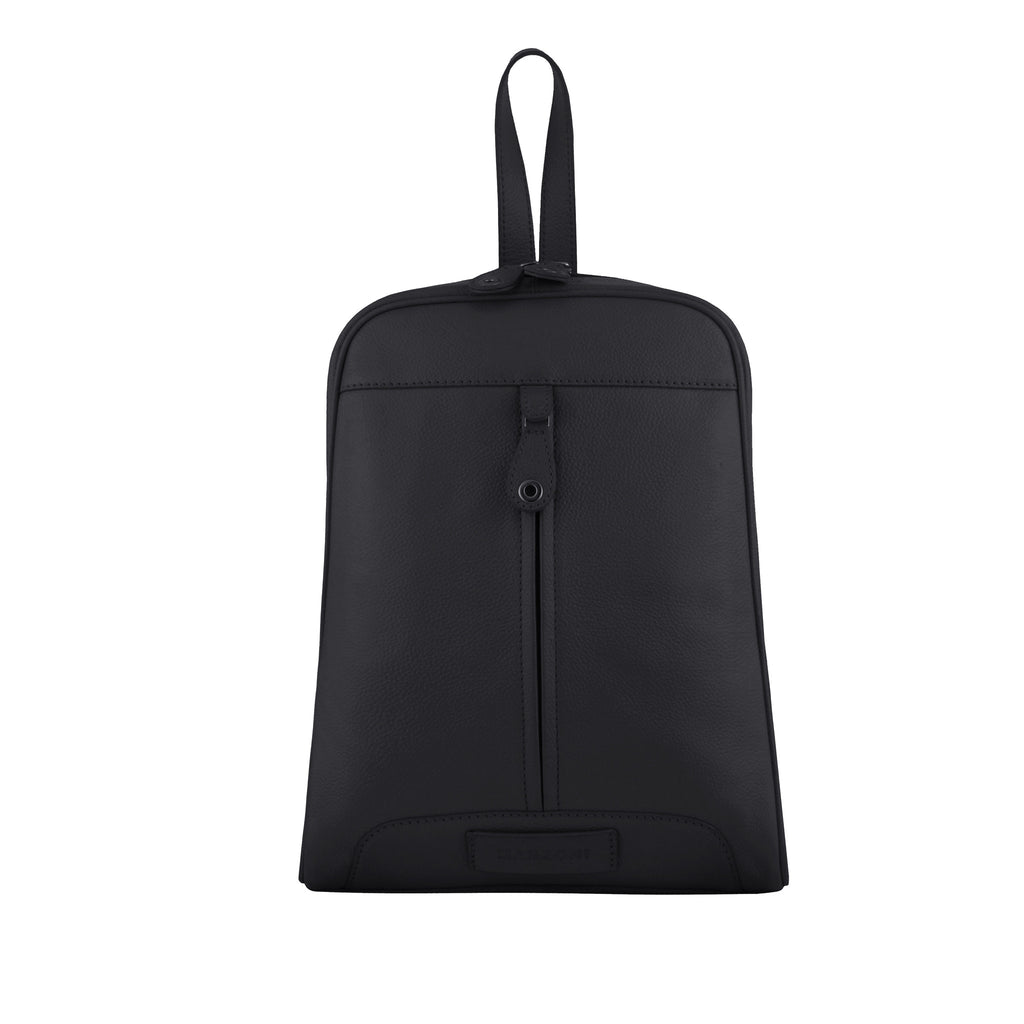Black Leather Backpack - R110