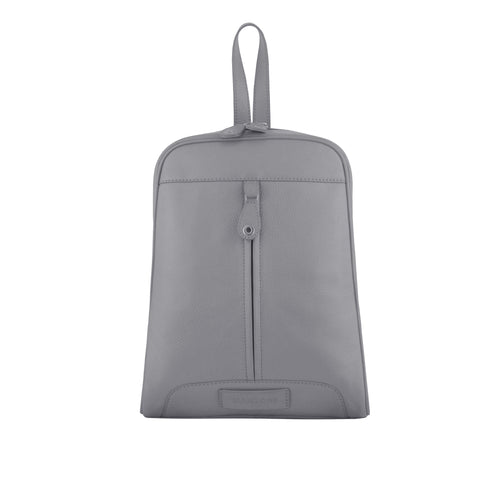 Grey Leather Backpack - R110