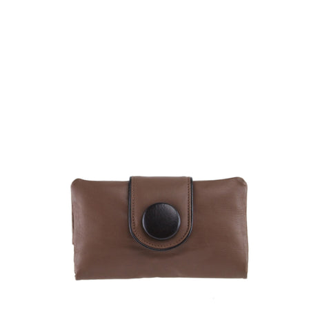 Cocoa Leather Wallet - W566