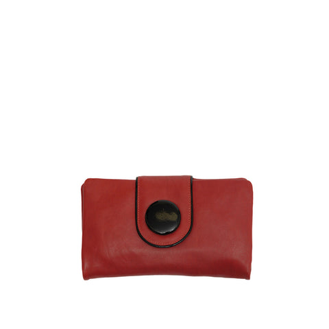 Persimmon Leather Wallet - W566