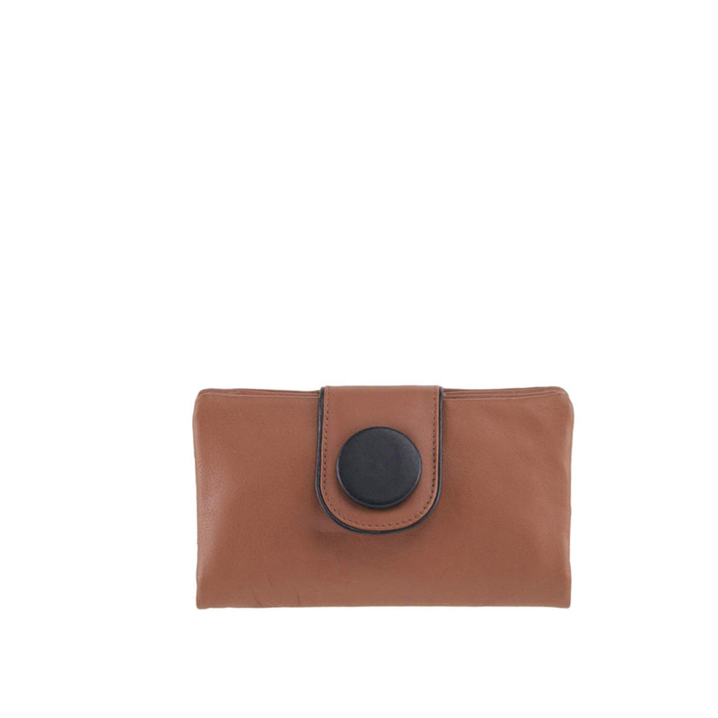 Tan Leather Wallet - W566