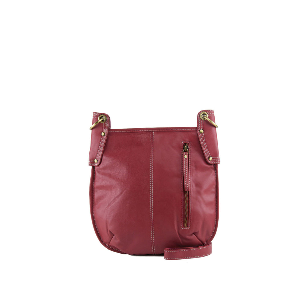 Persimmon Leather Crossbody - A132