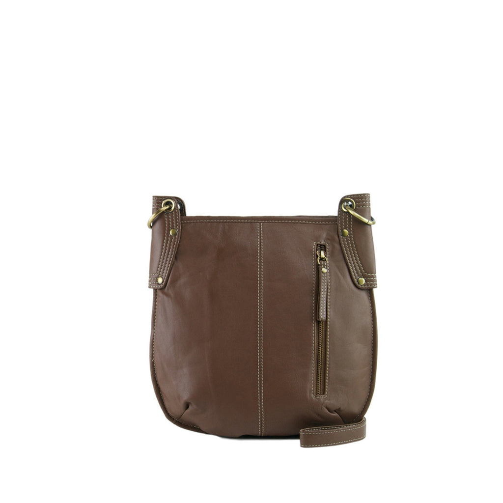 Cocoa Leather Crossbody - A132
