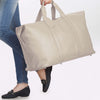 Ivory Leather Weekend Travel Bag - L14